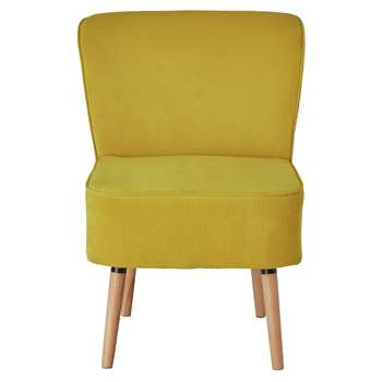 Habitat Eppy Fabric Accent Chair - Yellow (H80 x W58 x D64cm)