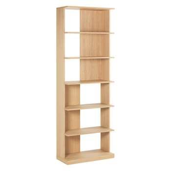 Habitat Ernie Oak Bookcase 200 x 70cm