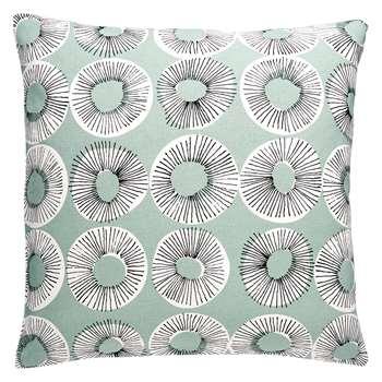 Habitat Evelyn Sage Green Patterned Cushion (H45 x W45cm)