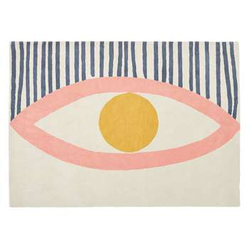 Habitat Eye Large Multi-Coloured Wool Rug (170 x 240cm)