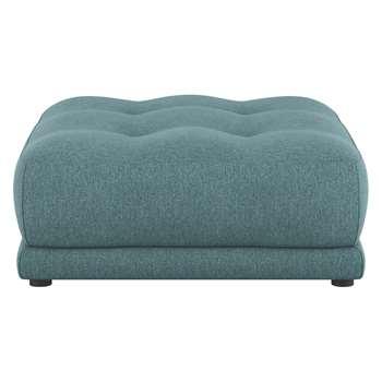 Habitat Forde Teal Fabric Footstool (43 x 100cm)