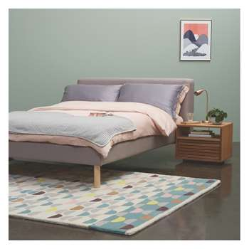 Habitat Fredd Fredd Grey 150cm Kingsize Bed And Coen Mattress (90 x 220cm)