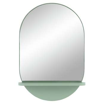 Habitat Freja Mirror with Shelf - Green (H60 x W40 x D10.5cm)