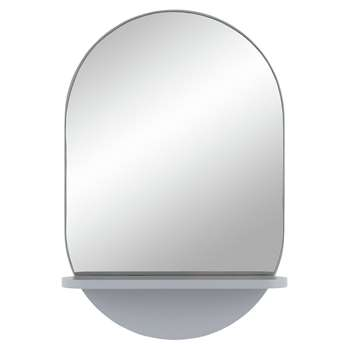 Habitat Freja Mirror with Shelf - Grey (H60 x W40 x D10.5cm)