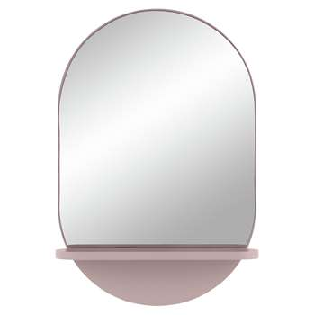 Habitat Freja Mirror with Shelf - Pink (H60 x W40 x D10.5cm)