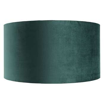 Habitat French Velvet Emerald Green Large Velvet Lampshade (26 x 49cm)