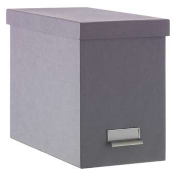 Habitat Garner Grey File Box (26.5 x 18.5cm)