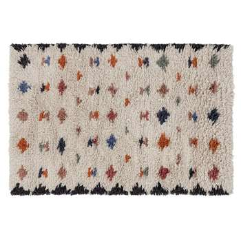 Habitat Geo Handwoven Wool Rug - Multicoloured (H120 x W180cm)