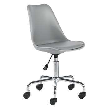 Habitat Ginnie Grey Office Chair (86 x 53.5cm)