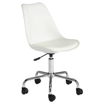 Habitat Ginnie Office Chair - White (H86-96 x W53.5 x D48.5cm)