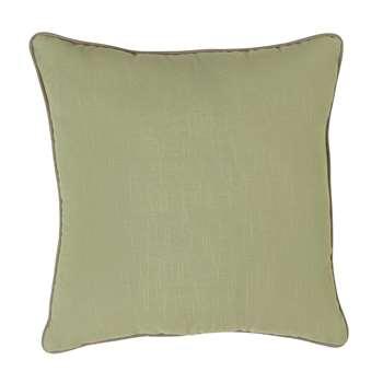 Habitat Green Cushion - 2 Pack (H45 x W45 x D11cm)