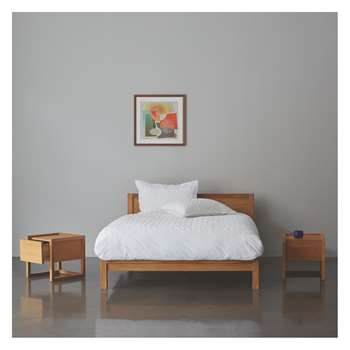 Habitat Hana Ii Hana 150cm Kingsize Bed, Coen Mattress And 2 Bedside Tables