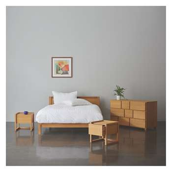 Habitat Hana Ii Hana 150cm Kingsize Bed, Coen Mattress, Chest Of Drawers And 2 Bedsides