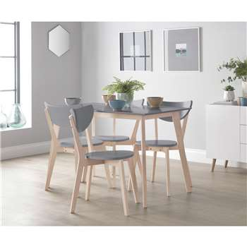 Habitat Harlow Dining Table & 4 Chairs - Grey