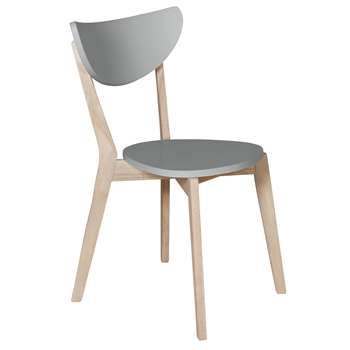 Habitat Harlow Stackable Dining Chair - Grey (H81 x W49 x D50cm)