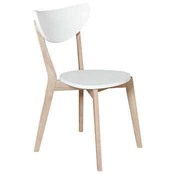 Habitat Harlow Stackable Dining Chair - White (H81 x W49 x D50cm)