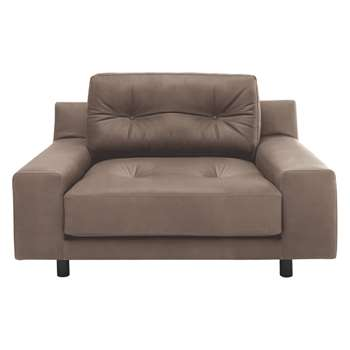 Habitat Hendricks Light Brown Luxury Leather Armchair (76 x 103cm)