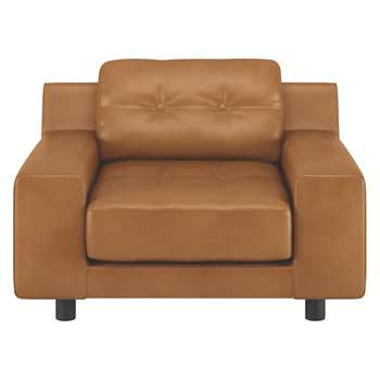 Habitat Hendricks Mid Tan Leather Armchair (76 x 103cm)