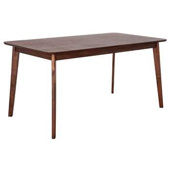 Habitat Home Skandi Walnut Veneer 6 Seater Dining Table (H75 x W150 x D85cm)