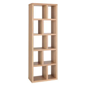 Habitat Hopkins Oak Veneer Narrow Bookcase (198 x 70cm)