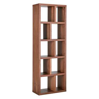 Habitat Hopkins Walnut Veneer Narrow Bookcase (198 x 70cm)