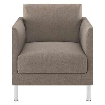 Habitat Hyde Natural Fabric Armchair, Metal Legs (72 x 70cm)