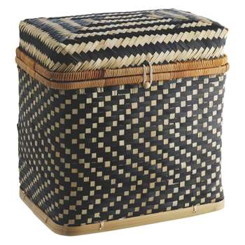 Habitat Idaho Bamboo Lidded Storage Trunk (38 x 40cm)