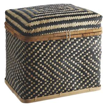 Habitat Idaho Bamboo Lidded Storage Trunk (43 x 49cm)