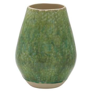 Habitat Jeju Green Ceramic Vase (H29 x W20 x D20cm)