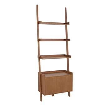 Habitat Jessie 1 Shelf Bookcase - Walnut (H189 x W66 x D32cm)