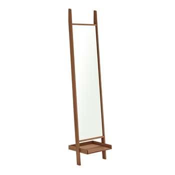 Habitat Jessie Freestanding Mirror - Walnut Stain (H188 x W45cm)
