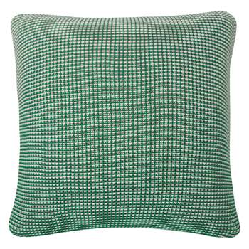 Habitat Jilly Green Knitted Cushion 50 x 50cm