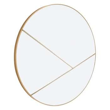 Habitat Kade Gold Round Sectional Mirror (H70 x W70 x D3cm)
