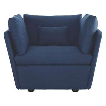 Habitat Kasha Blue Fabric Armchair (67 x 115cm)
