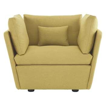 Habitat Kasha Yellow Fabric Armchair (67 x 115cm)