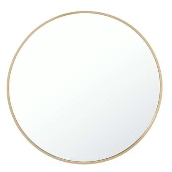 Habitat Katun Brass Mirror (H50 x W50 x D2.5cm)