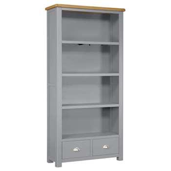 Habitat Kent 2 Drawer Bookcase - Light Grey (H185 x W90 x D35cm)