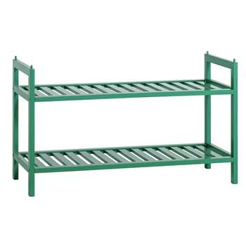 Habitat Kitt Bamboo 2 Shelf Shoe Rack - Green (H41 x W70 x D28cm)