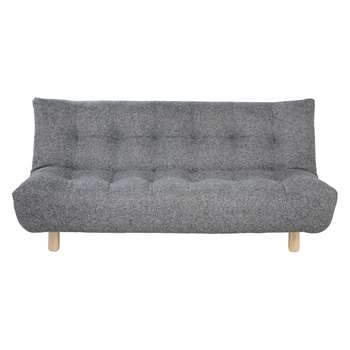 Habitat Kota Black And White Tweed Fabric 2 Seater Sofa Bed (90 x 189cm)