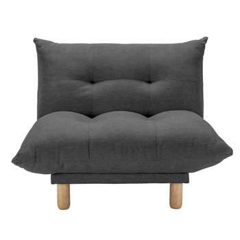 Habitat Kota Fabric Armchair - Charcoal (H89 x W83 x D103cm)