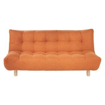 Habitat Kota Orange Fabric 3 Seater Sofa Bed (H90 x W189 x D102cm)
