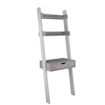 Habitat Ladder Office Desk - Concrete Effect (H179.5 x W65 x D40cm)