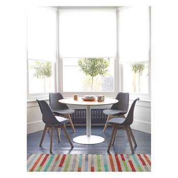 Habitat Lance 4 Seater Dining Set With Lance Oak Table And 4 Jerry Grey Chairs