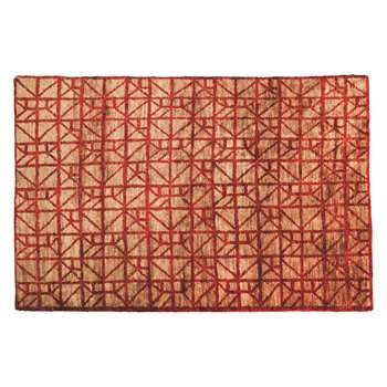 Habitat Leo Extra Large Red And Natural Jute Rug 200 x 300cm