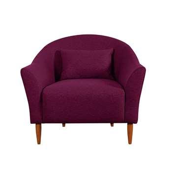 Habitat Lipps Velvet Armchair - Cranberry (H81 x W92 x D81cm)