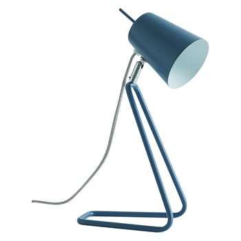 Habitat Lizzie Metal Desk Lamp Blue (H33 x W16 x D12cm)