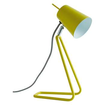 Habitat Lizzie Metal Desk Lamp Yellow (H33 x W16 x D12cm)