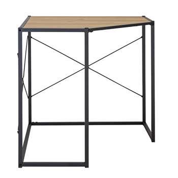 Habitat Loft Living Corner Office Desk - Light Oak Effect (H77.5 x W80 x D80cm)