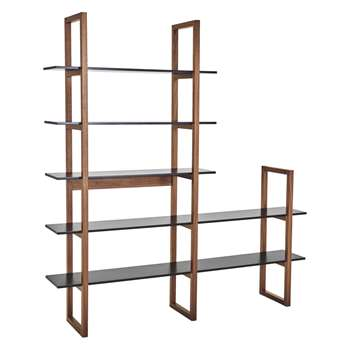 Habitat Loki Black Extra-Wide 5 Shelf Bookcase (200 x 186cm)
