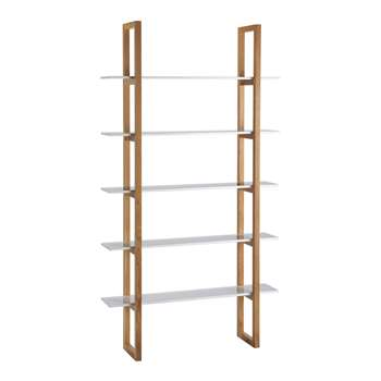 Habitat Loki 5 Shelf Bookcase/Unit - White 200 x 110cm